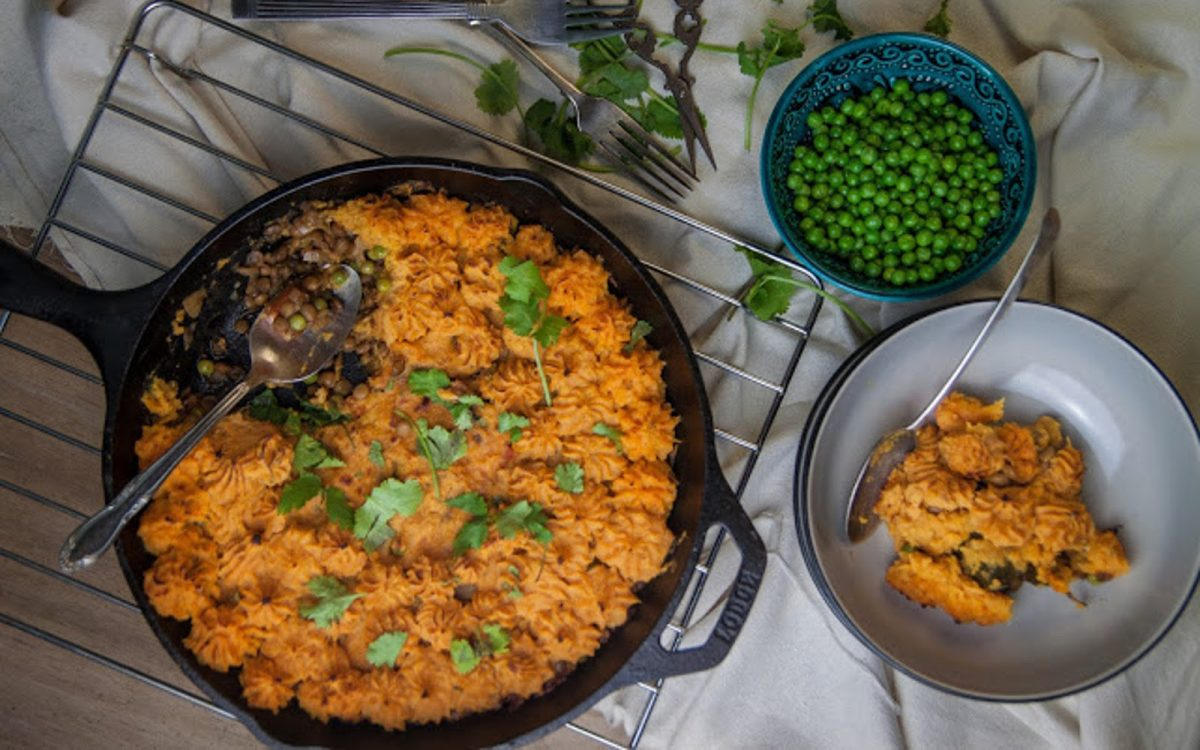 Vegan shepherdess pie