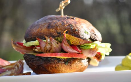 Raw Portobello Burger