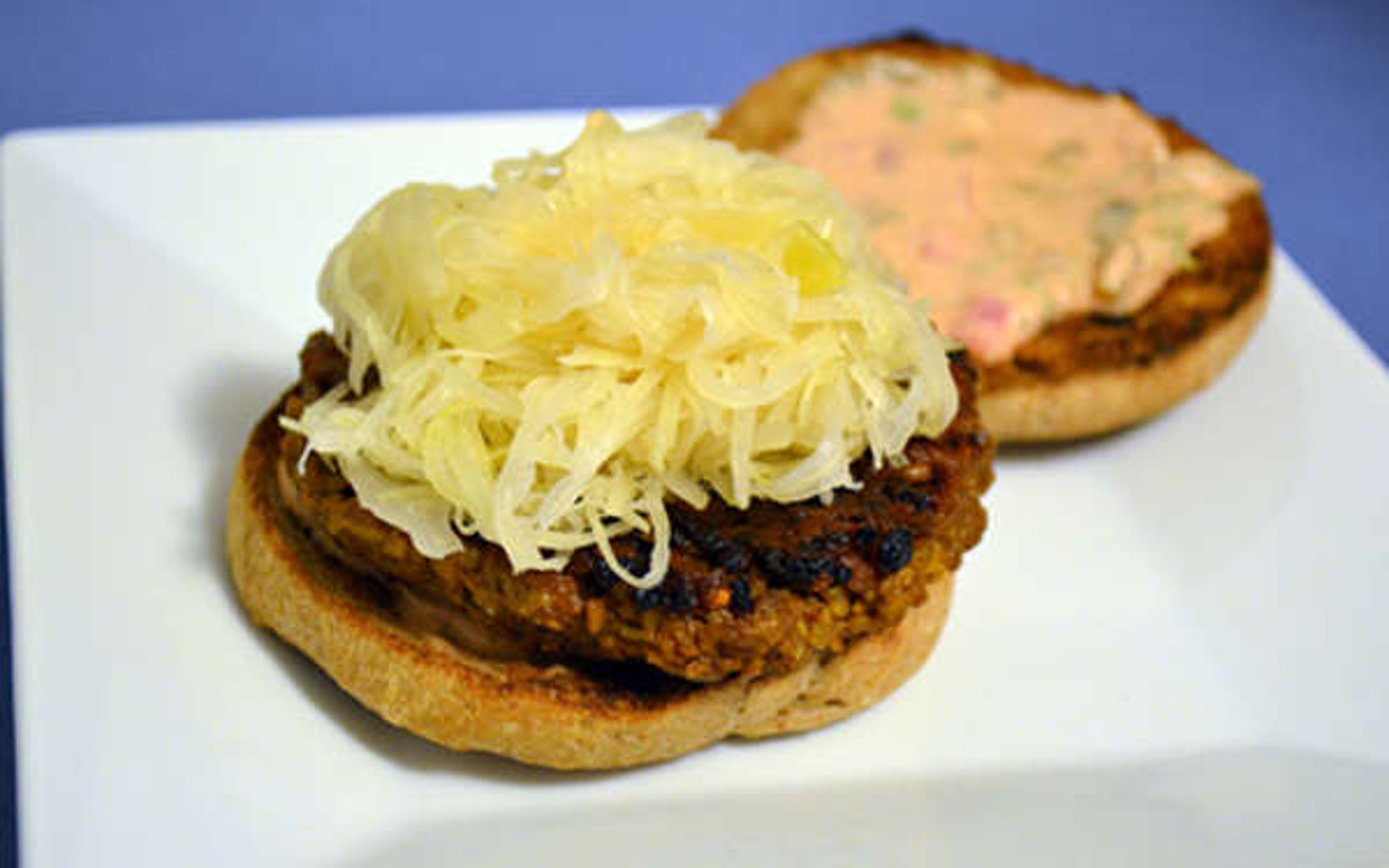 vegan reuben burger