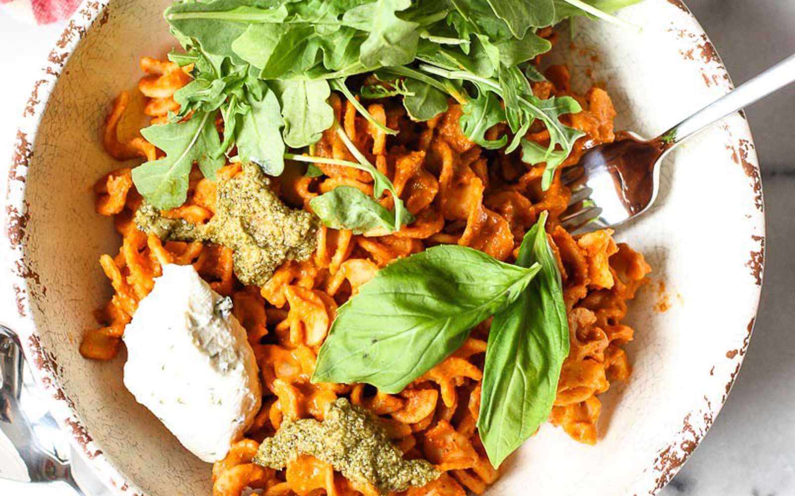 Roasted Red Pepper Pasta Bowl