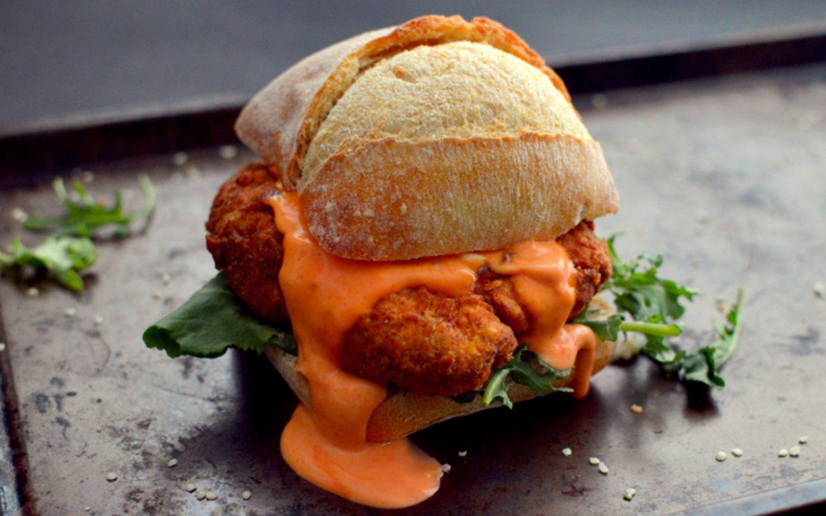 Vegan 'chicken' sandwich