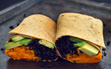 Sweet Potato Black Rice and Avocado WWrap