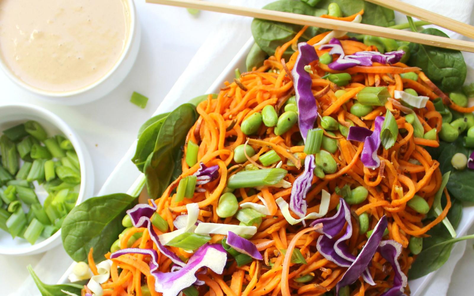 Sweet Potato Noodle Salad With Peanut Dressing