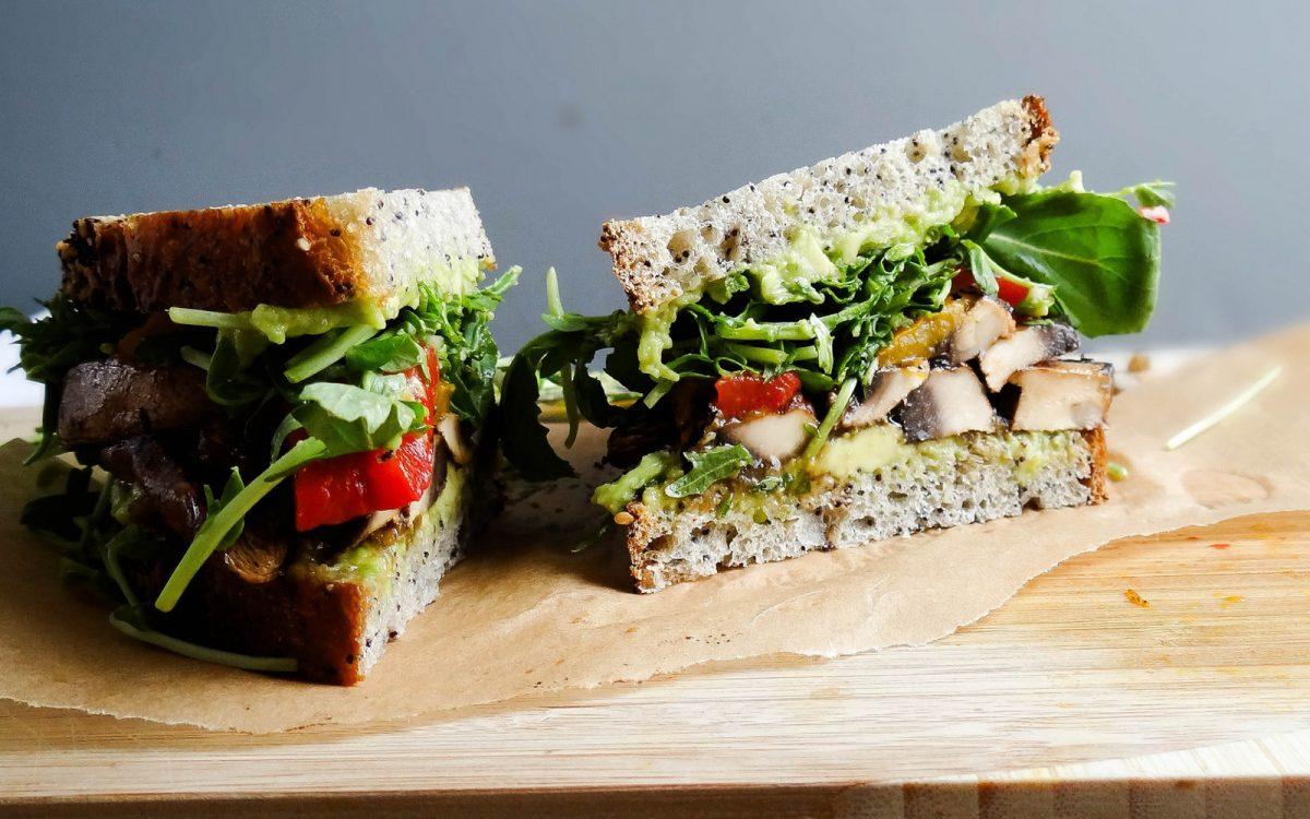 Vegan Portobello 'Bacon' Sandwich