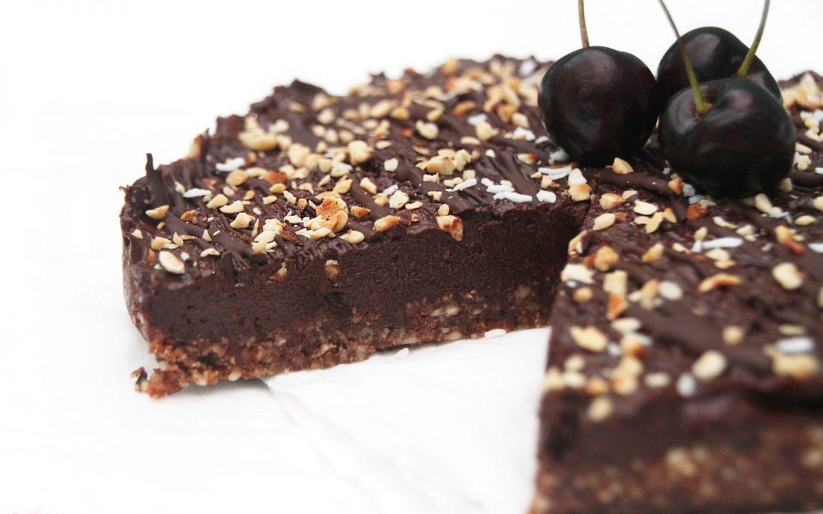 Raw Cherry Chocolate Tart