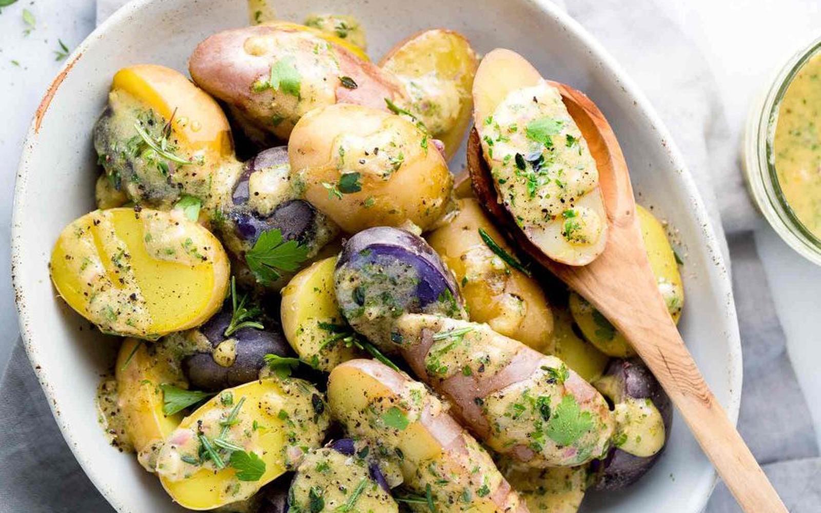 Fingerling Potato Salad With Lemon Herb Dressing