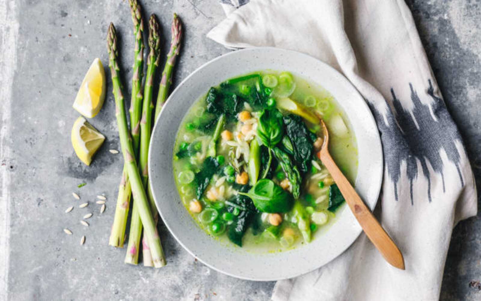 Green Spring Minestrone With Orzo and Asparagus