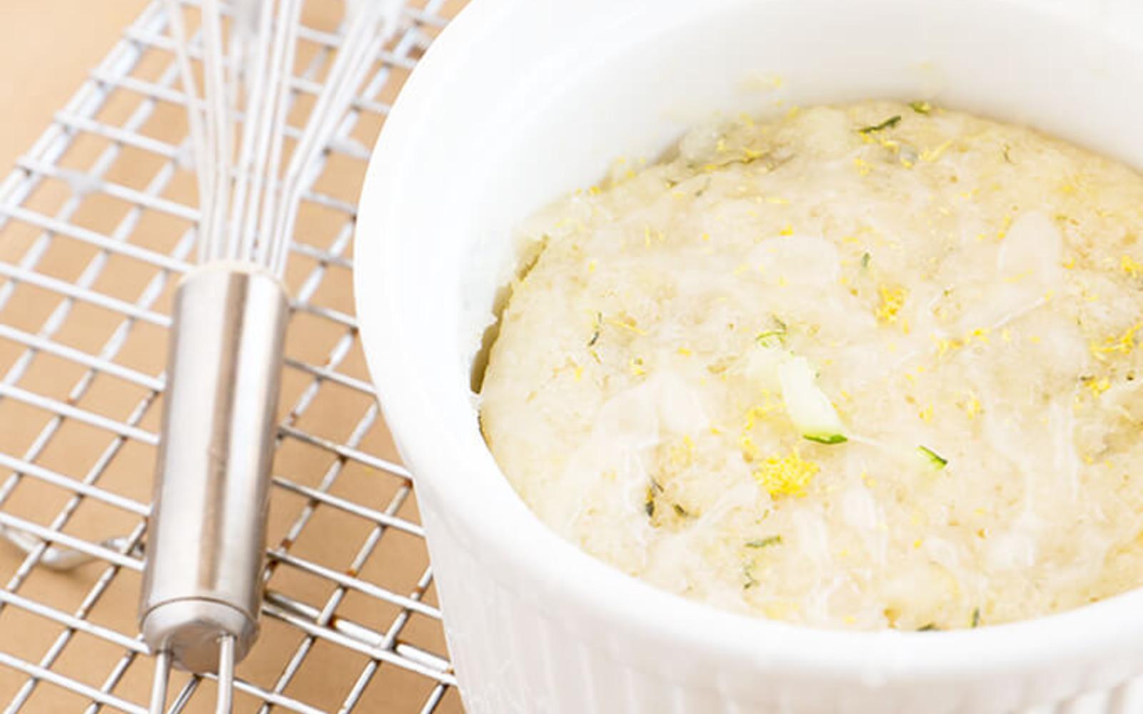Vegan Lemon Zucchini Mug Cake