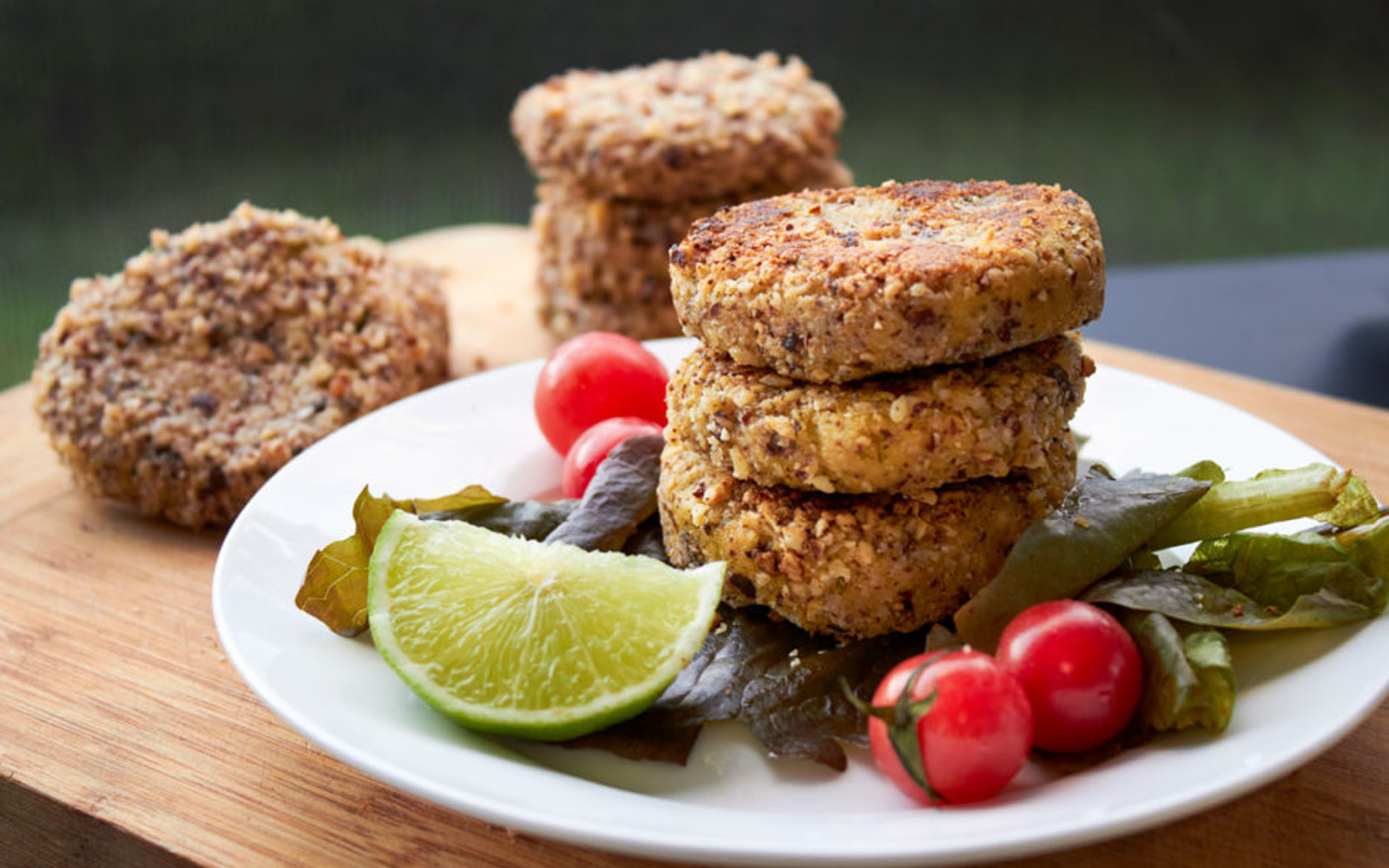 Mini Coriander and Lime Burgers with a Hazelnut Crust
