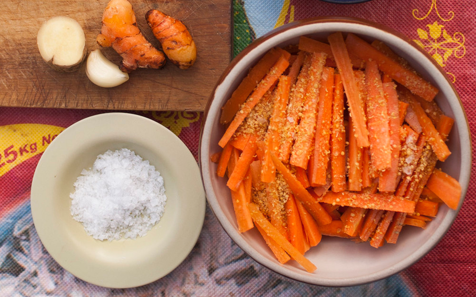 Fermented Carrots with Turmeric and Mustard