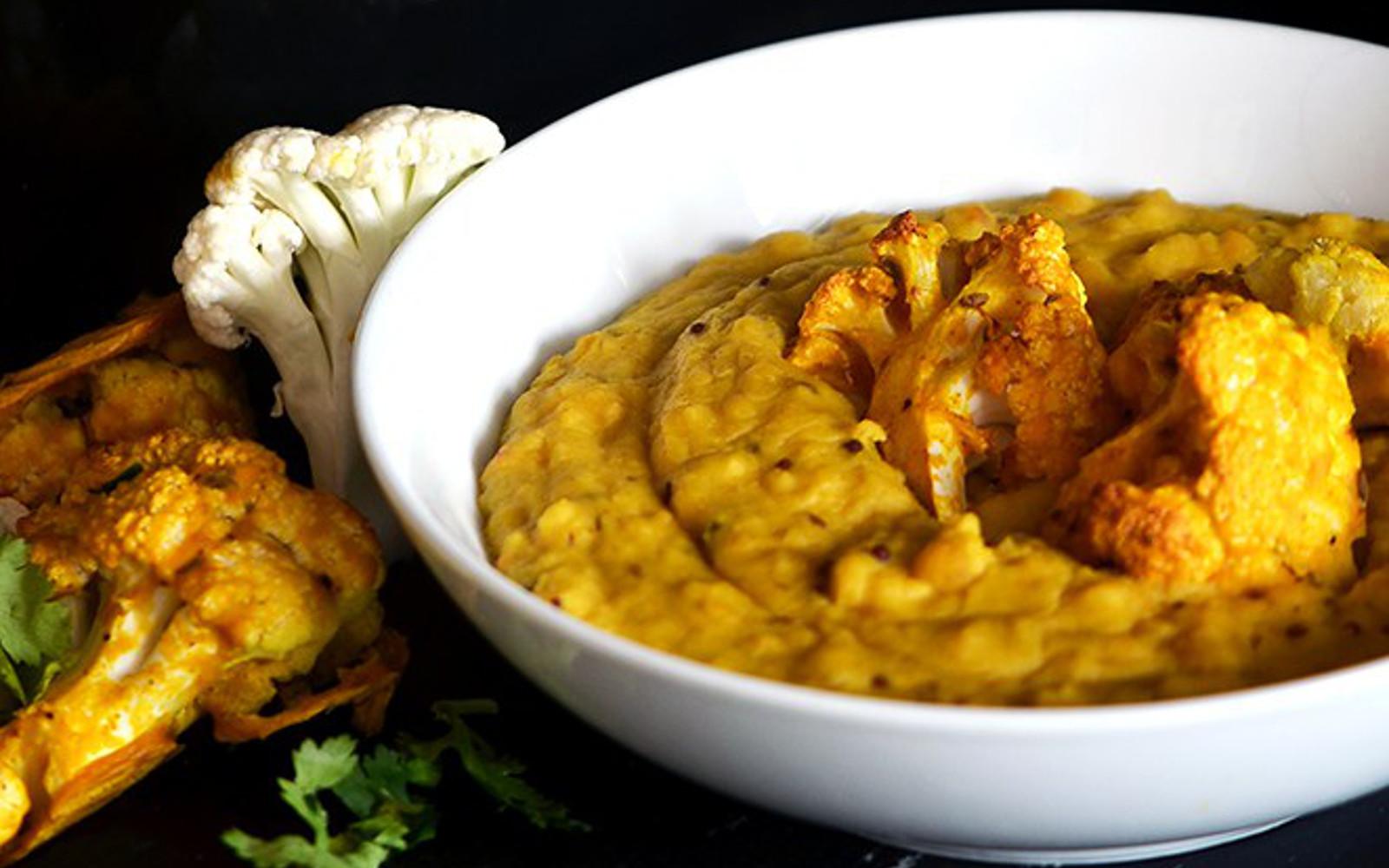 One Pot Coconut Dal With Spiced Cauliflower b