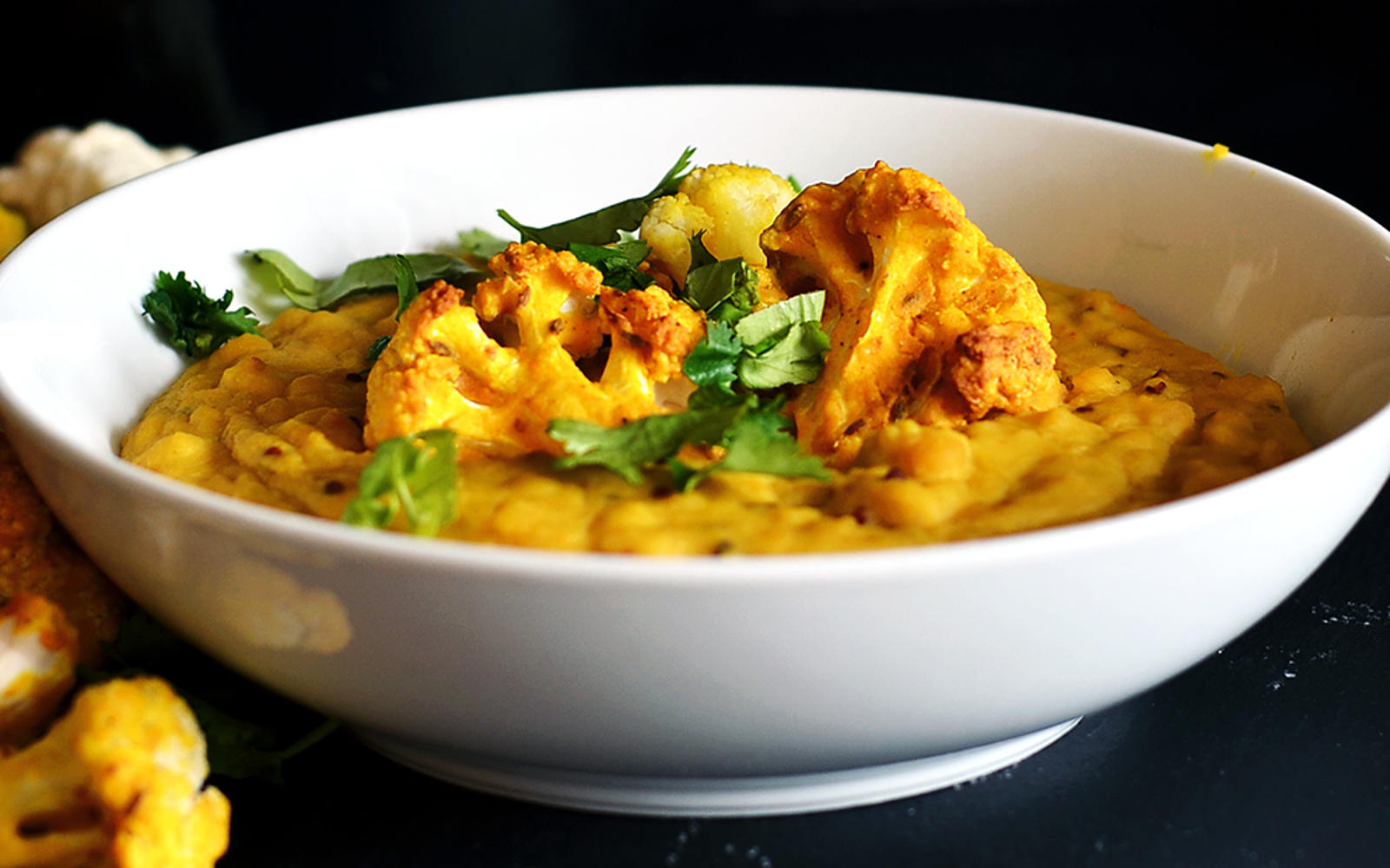 One Pot Coconut Dal With Spiced Cauliflower