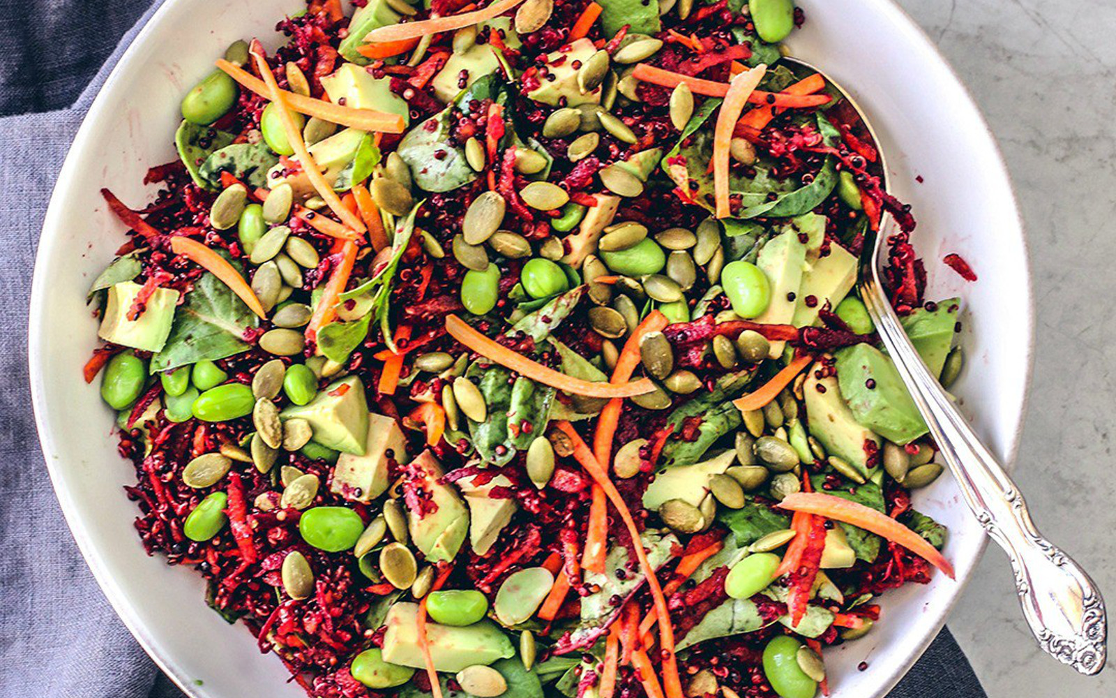 Bright Beet Salad With Quinoa and Toasted Pepitas