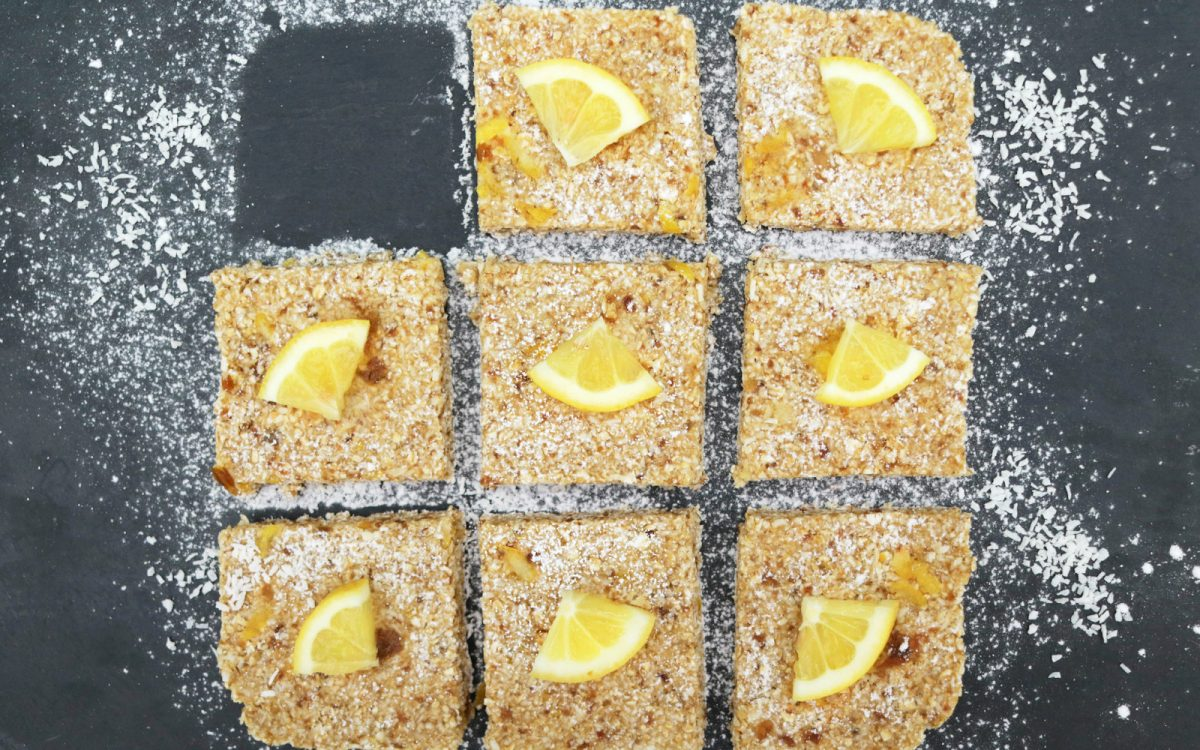 Vegan Lemon Bars gluten free comfort food