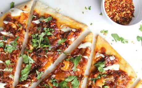 Roasted Cauliflower BBQ Pizza