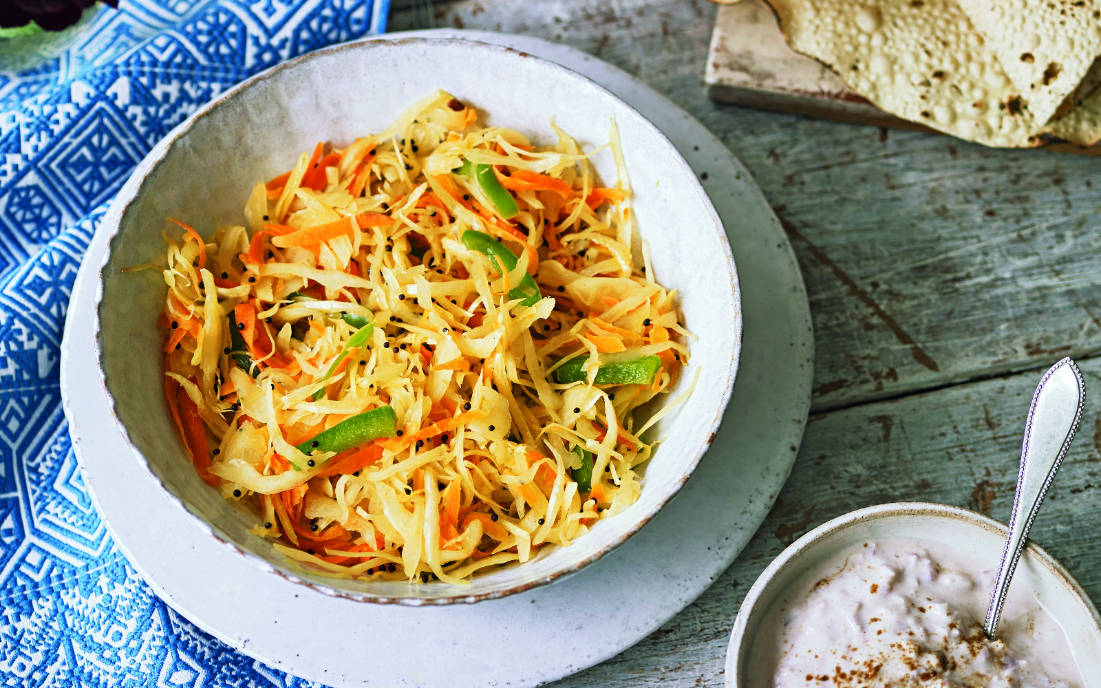Sambharo Indian Spiced Carrot And Cabbage Salad Vegan Gluten Free One Green Planet