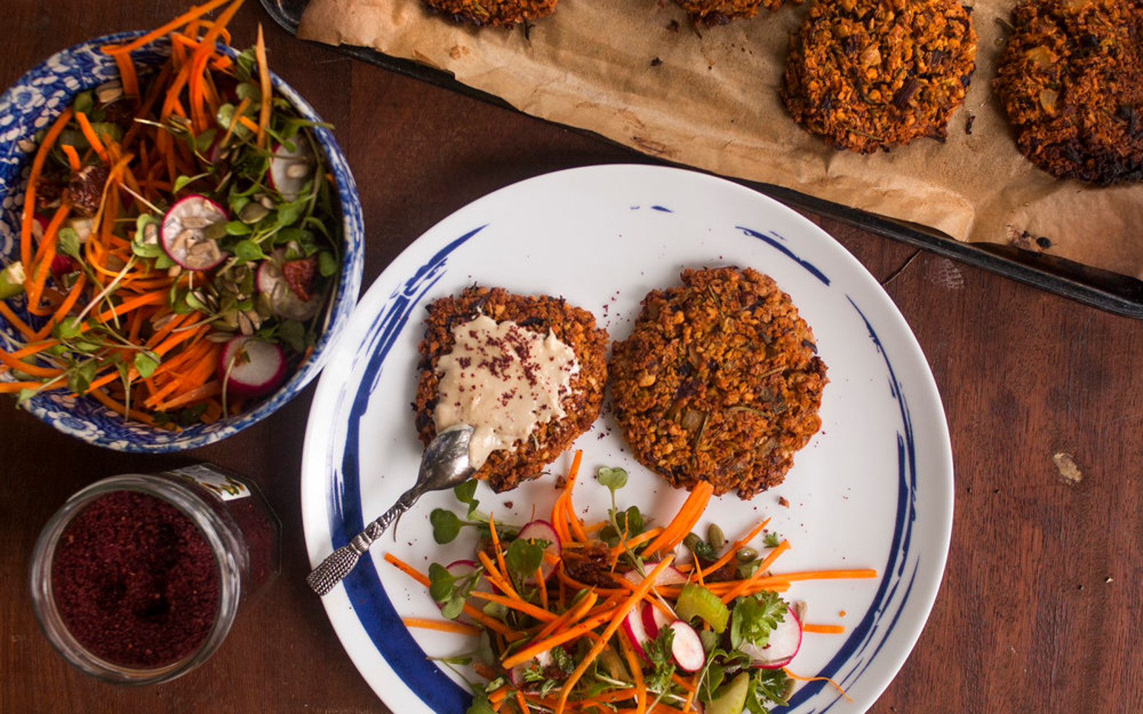 Sprouted Chickpea Falafel Burger