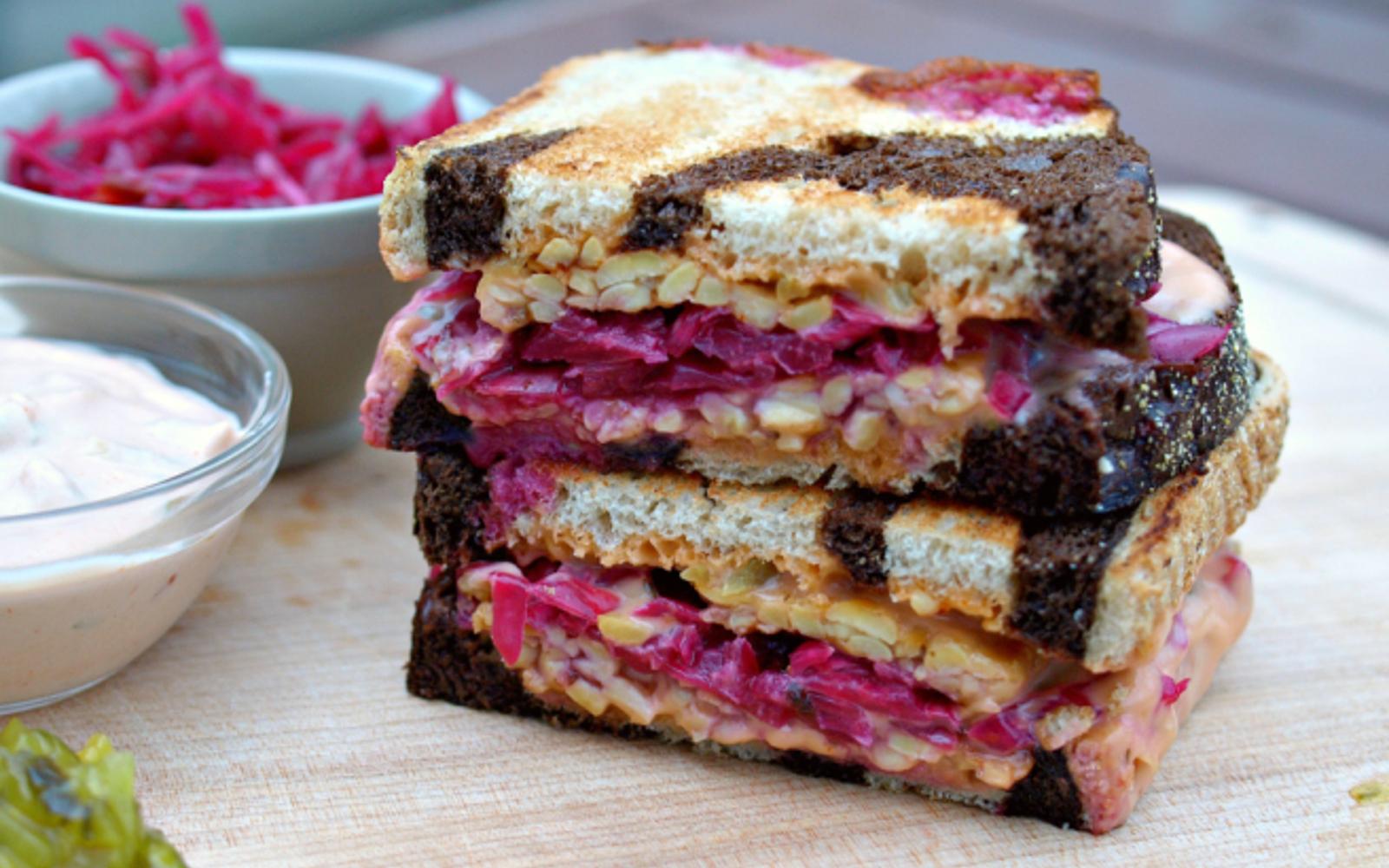 The Ruby Tempeh Reuben Sandwich