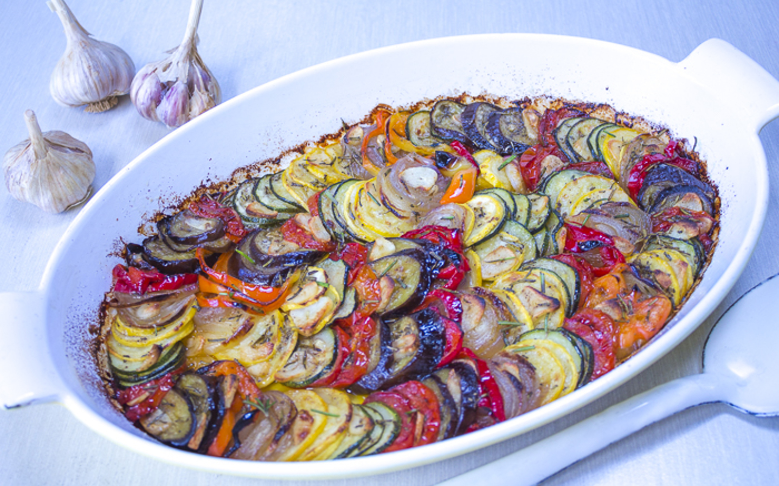Tian of Vegetables with Garlic and Rosemary