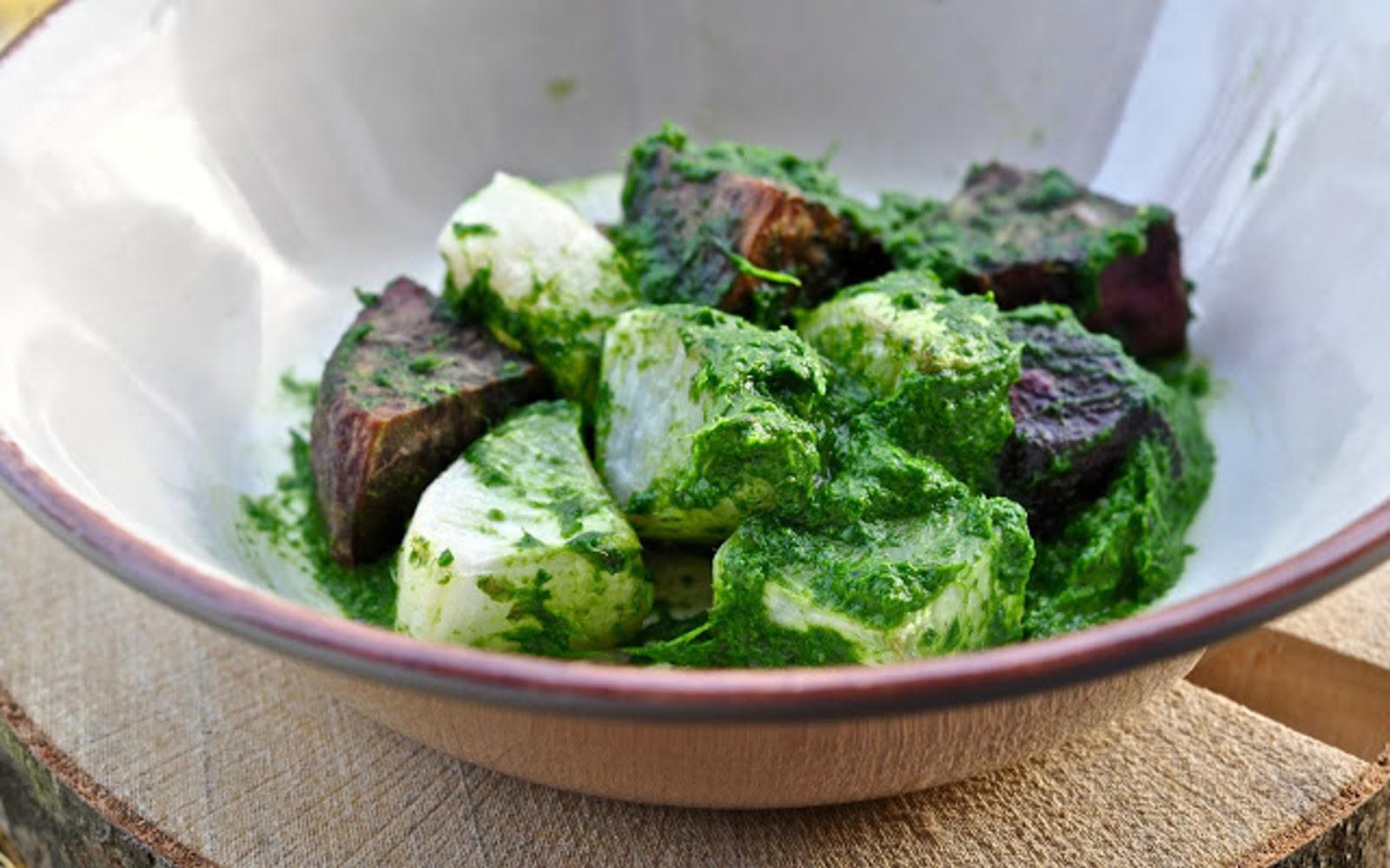 Wild Garlic and Seaweed Pesto b