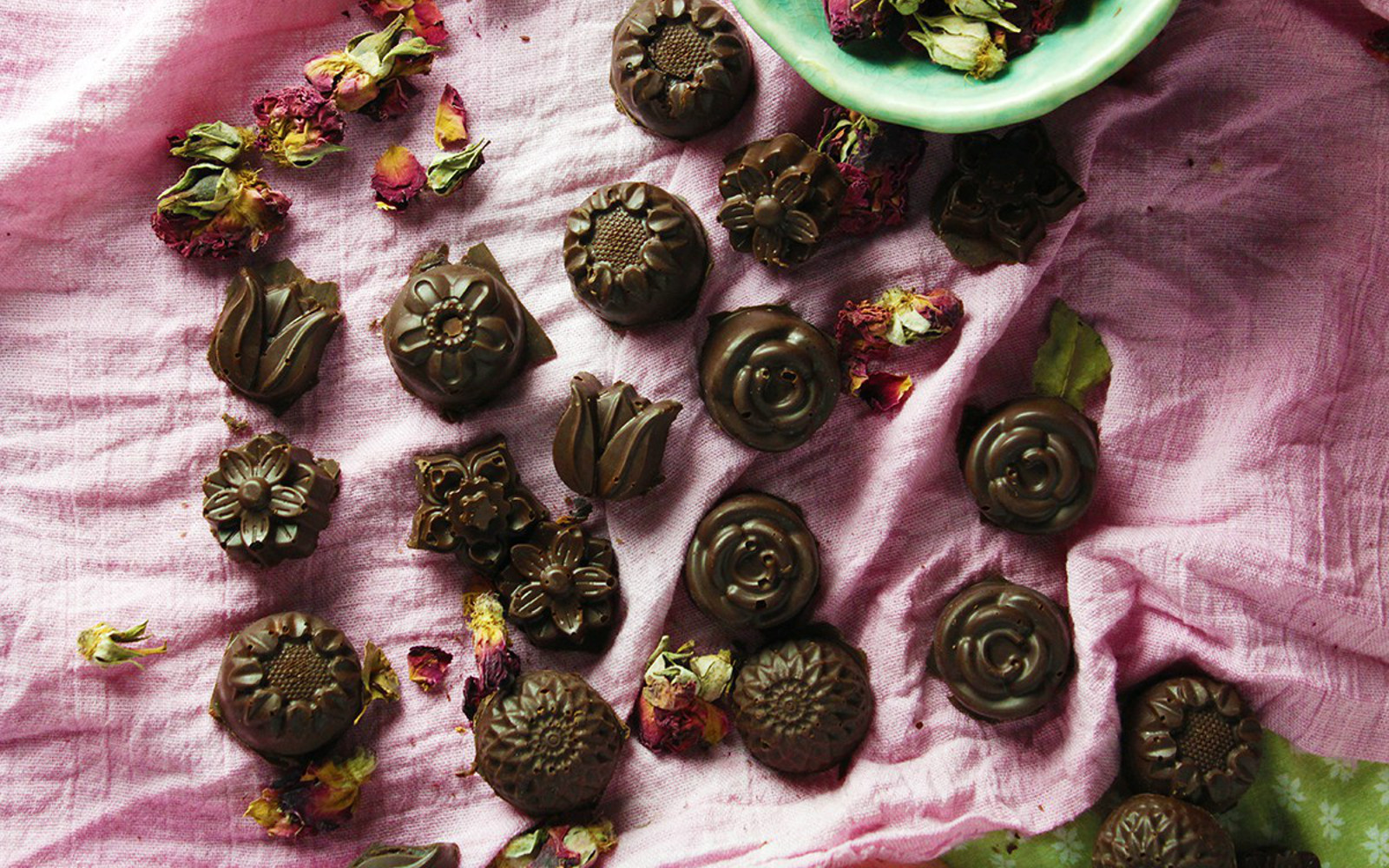 Red Wine-Filled Chocolates