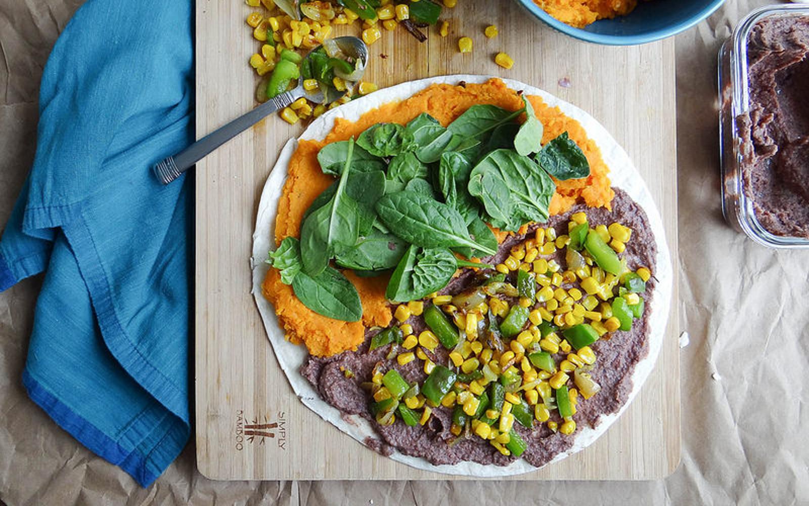 Sweet Potato and Black Bean Quesadillas