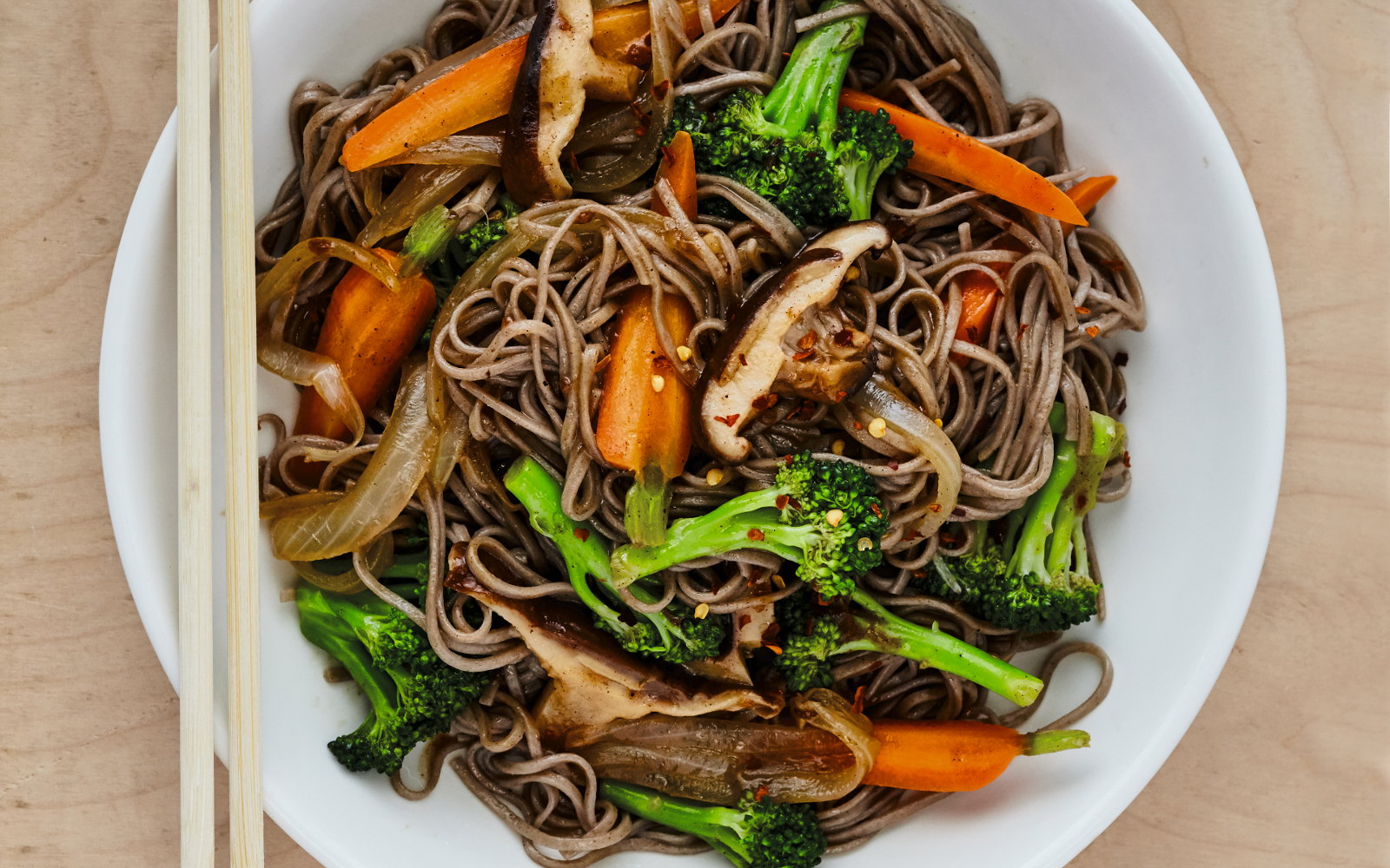 Five Spice Stir Fried Soba Noodles