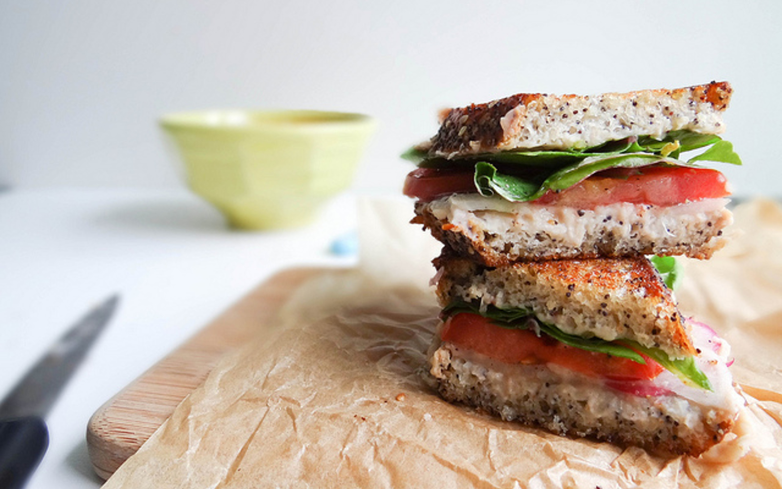Swiss Chard and White Bean Grilled Sammie