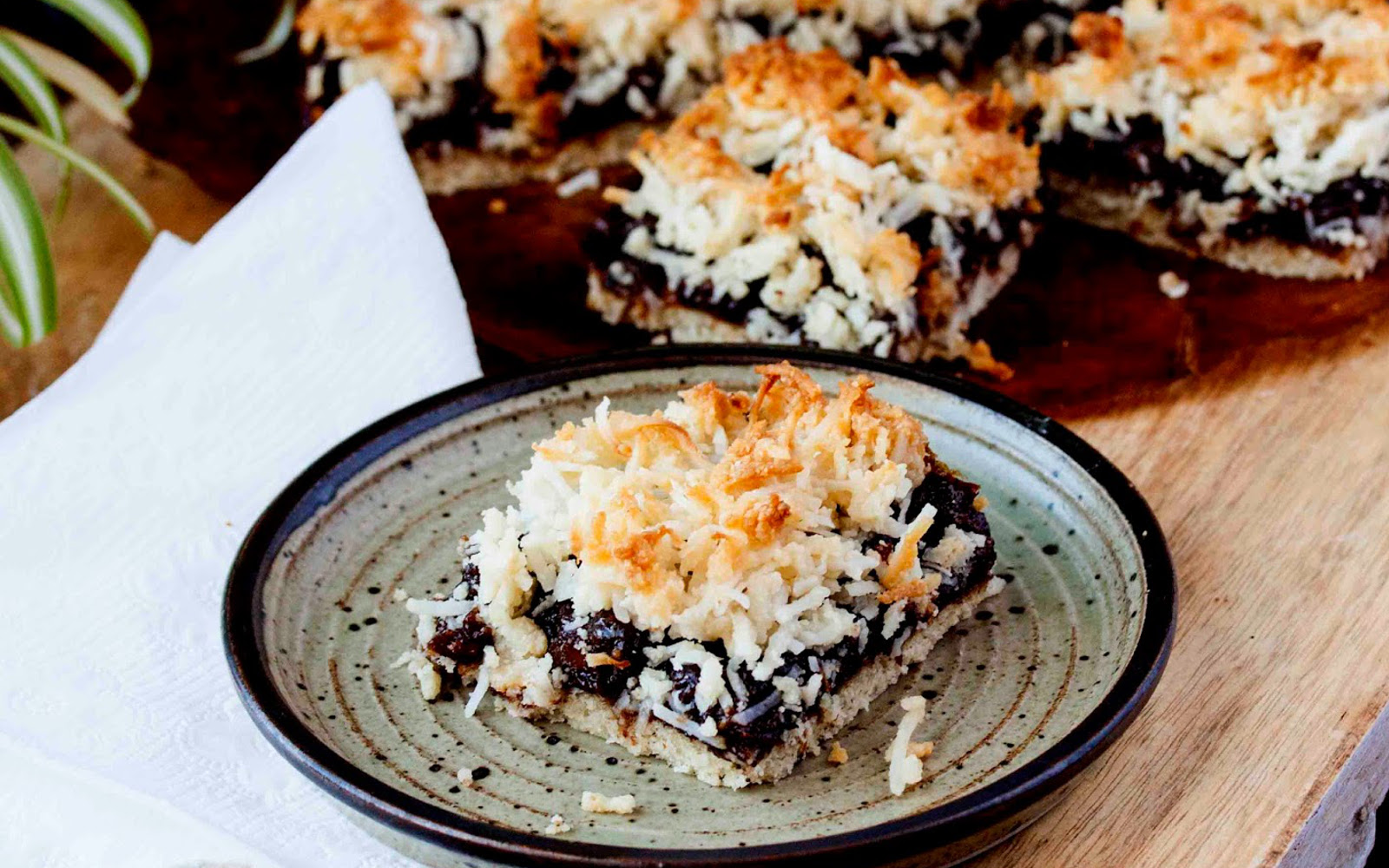 Paleo Blueberry Coconut Slice