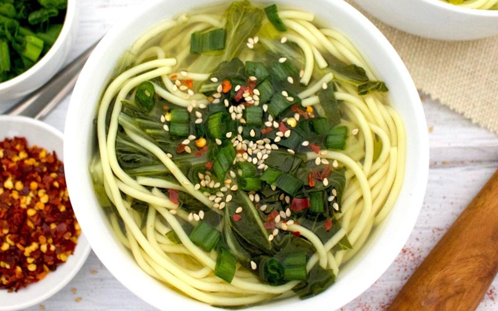 Ginger Bok Choy Soup