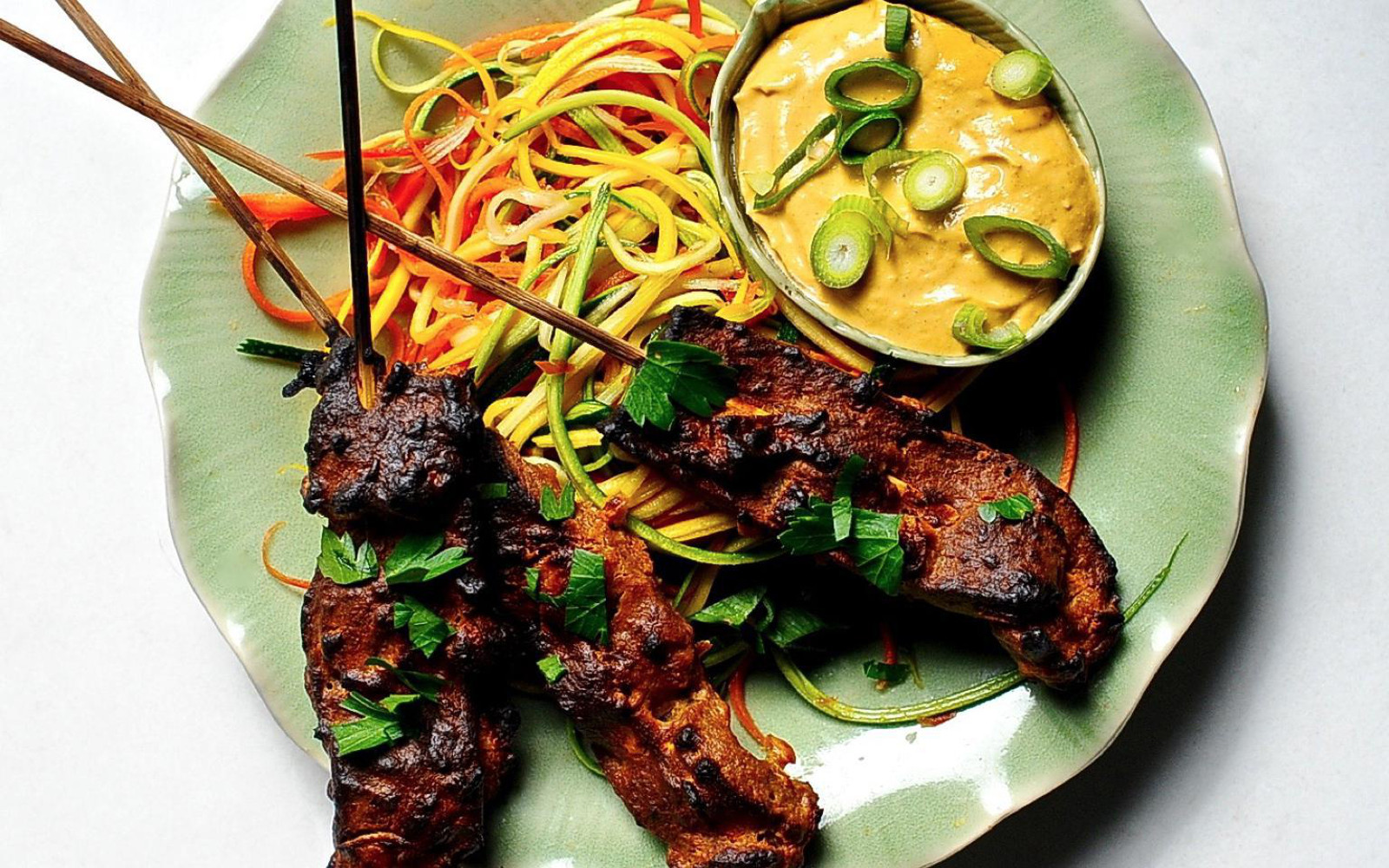 Seitan Satay With Spicy Peanut Sauce