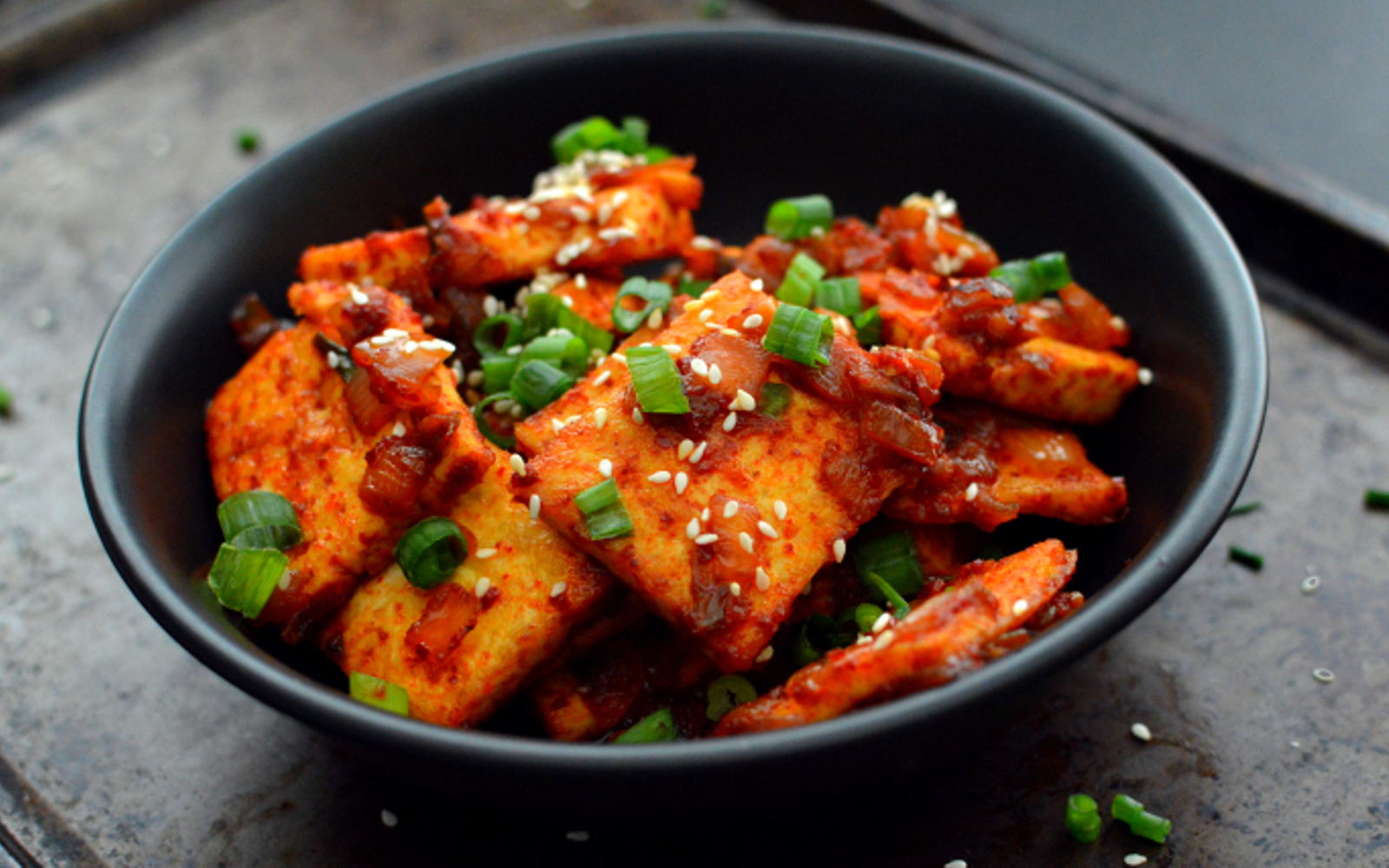Dubu Jorim: Korean Spicy Braised Tofu