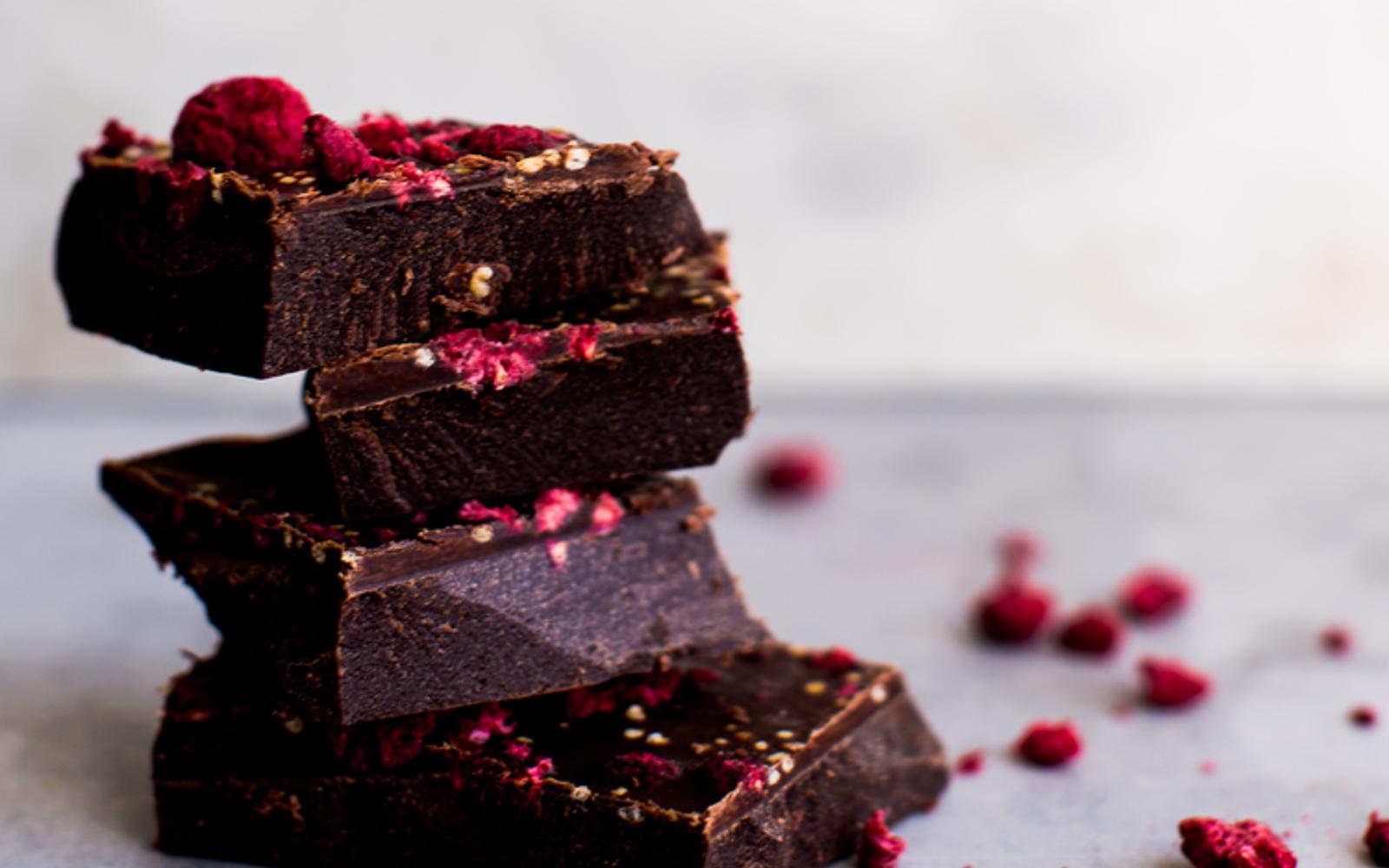 Galaxy Dark Chocolate With Raspberries
