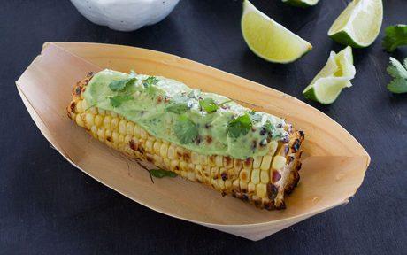 Grilled Corn with Vegan Avocado Crema