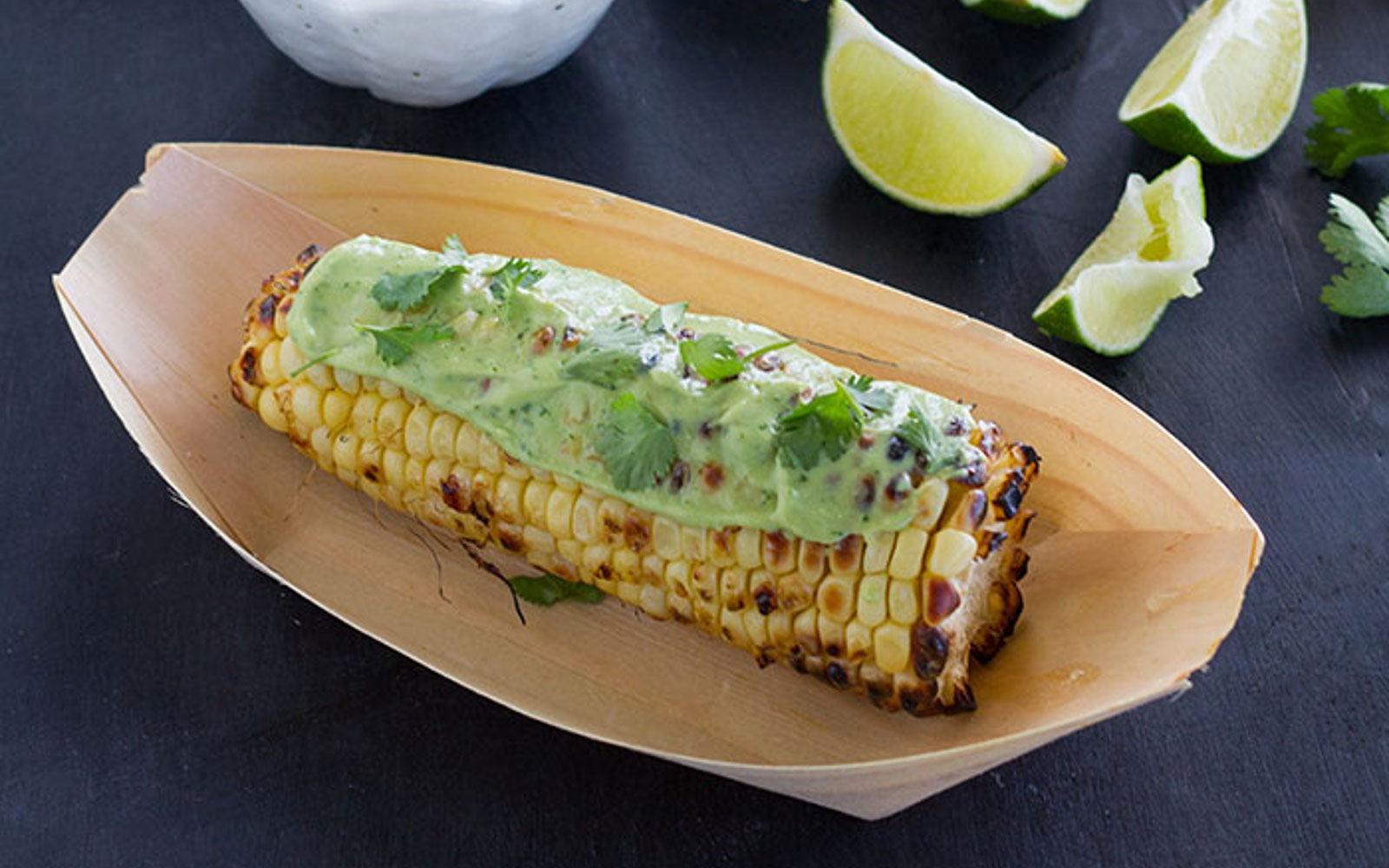 Grilled Corn with Vegan Avocado Crema