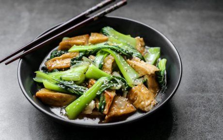 Healthier Restaurant Style Chinese Bok Choy and Tofu b
