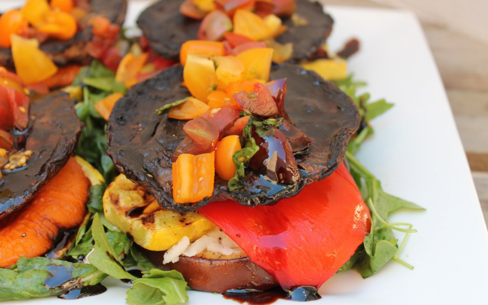 Portobello Eggplant Stacks