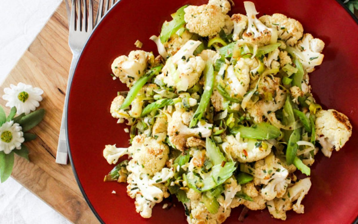 Roasted Cauliflower With Leeks and Tarragon