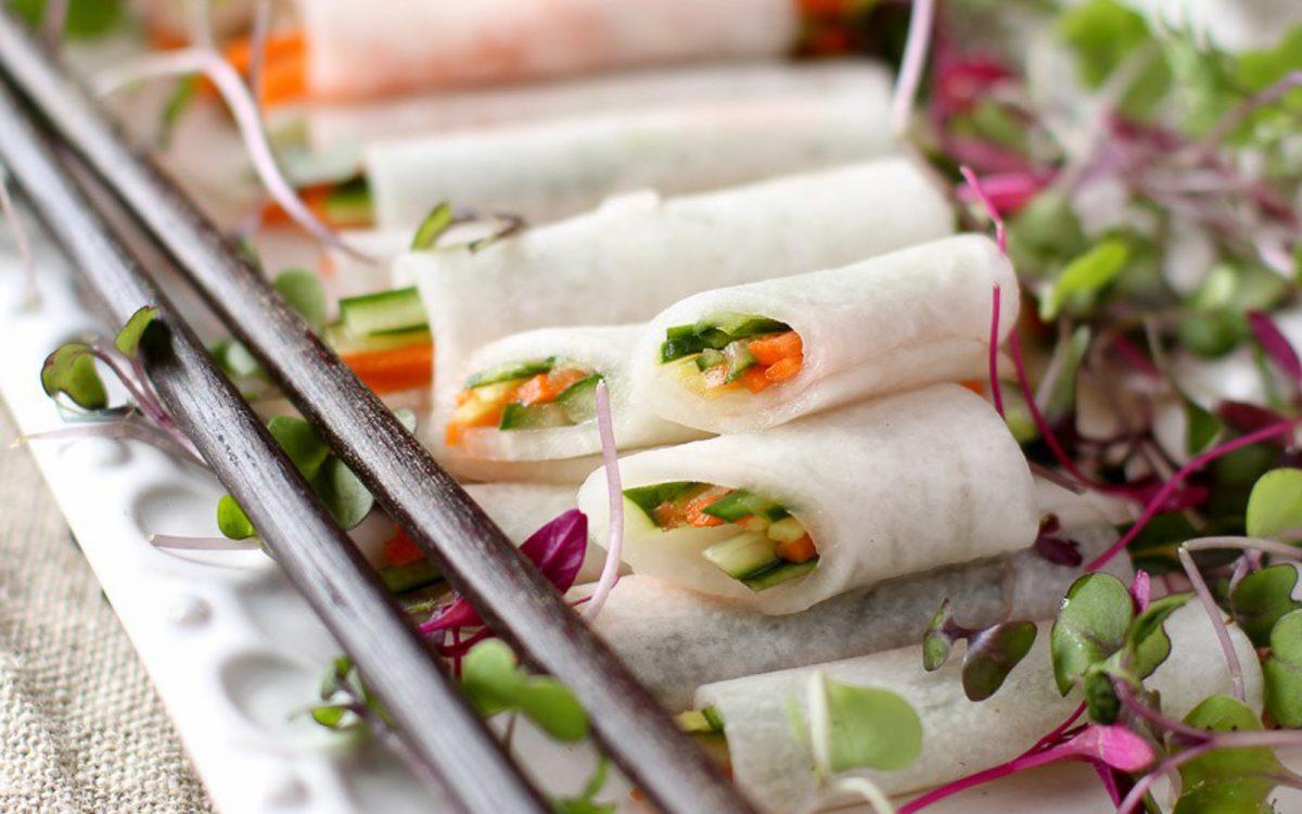 White radish wraps