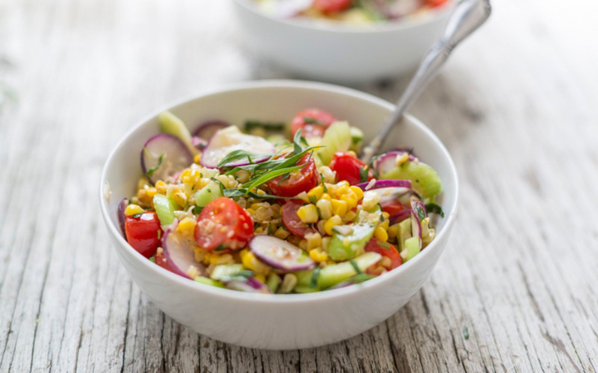http://www.onegreenplanet.org/vegan-recipe/roasted-corn-and-tomato-salad-with-tarragon-dressing/