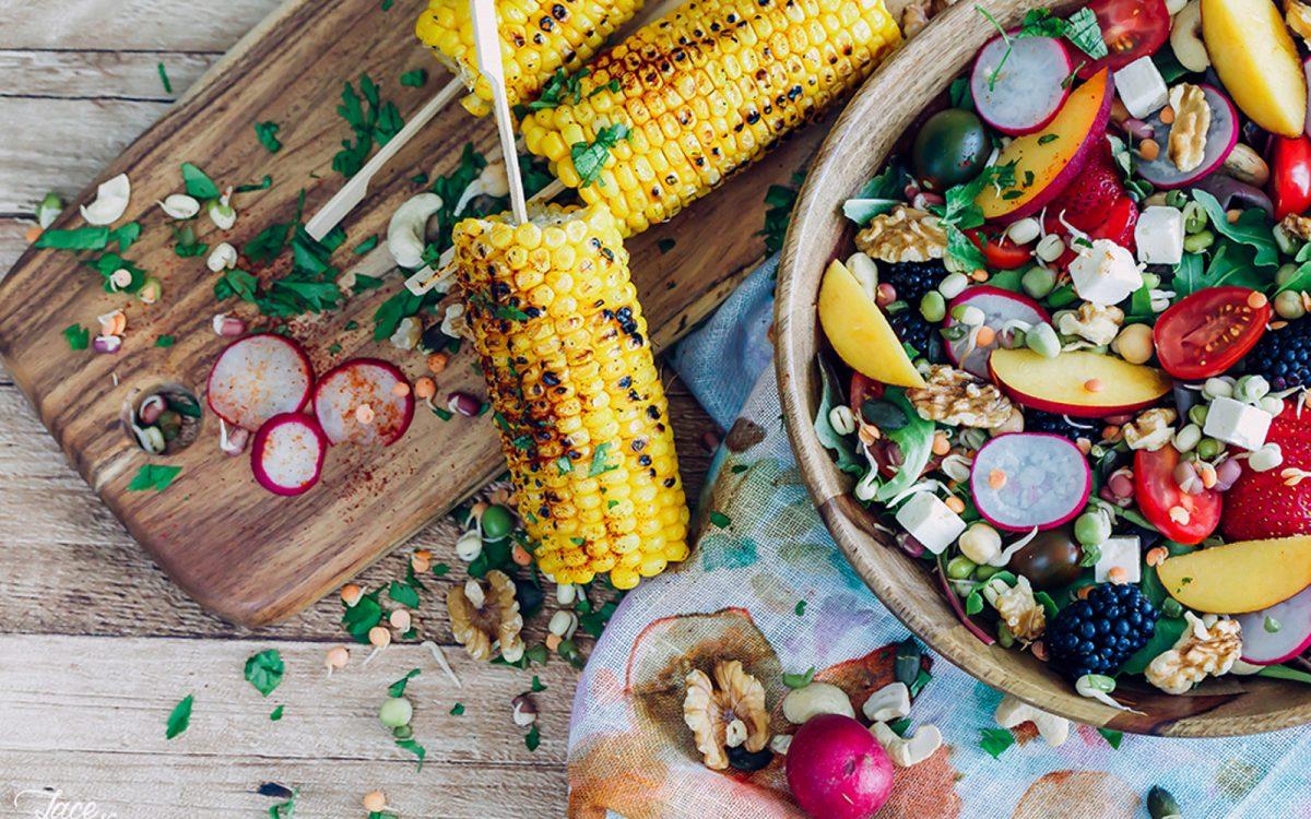 Bohemian Summer Salad With Grilled Corn Vegan Gluten Free One