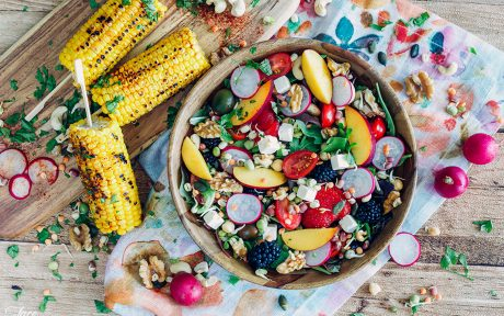 Bohemian Summer Salad with Grilled Corn