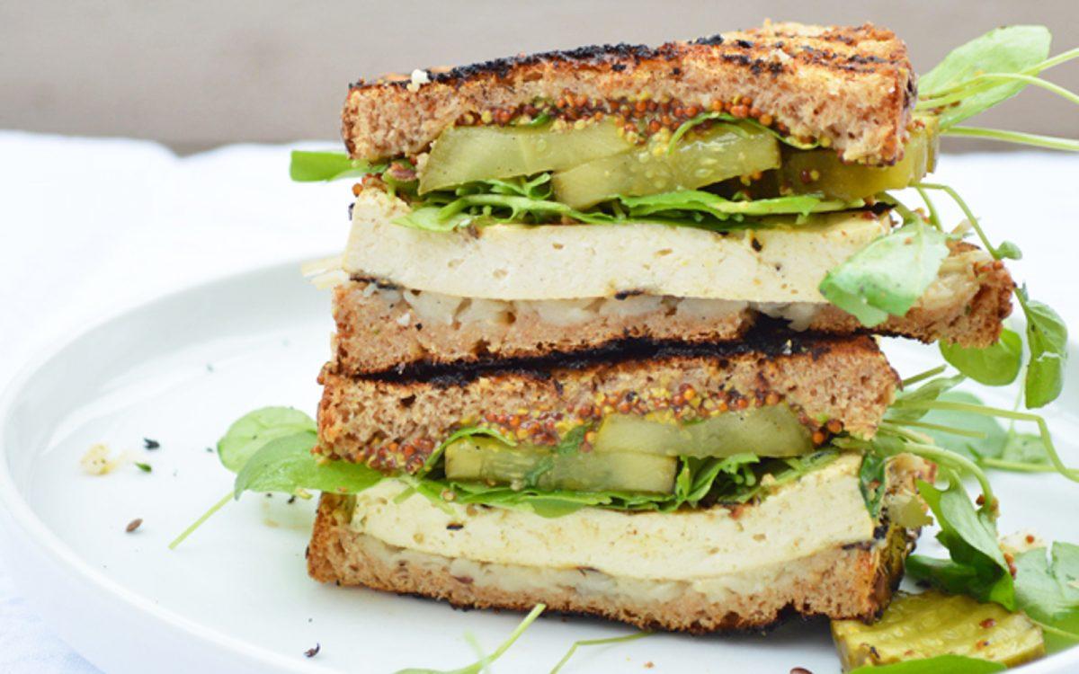 Vegan Grilled Cuban Tofu Sandwich gluten free