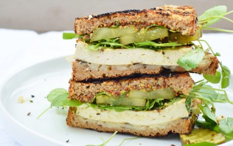 Grilled Cuban Tofu Sandwich