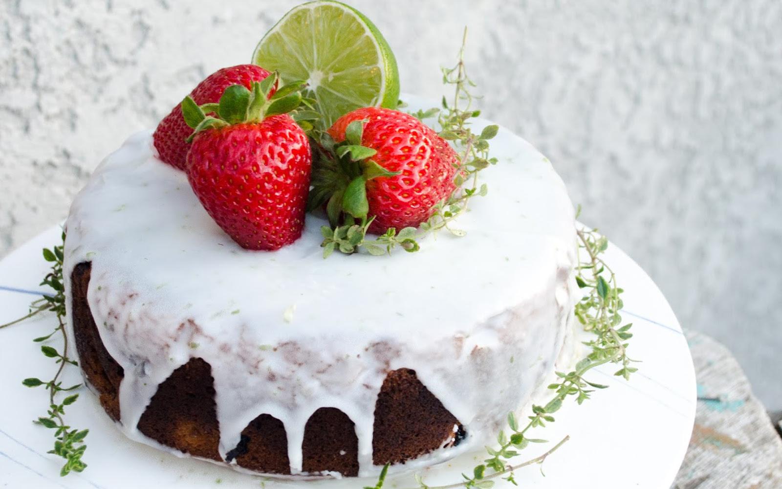 Strawberry Lime Cake