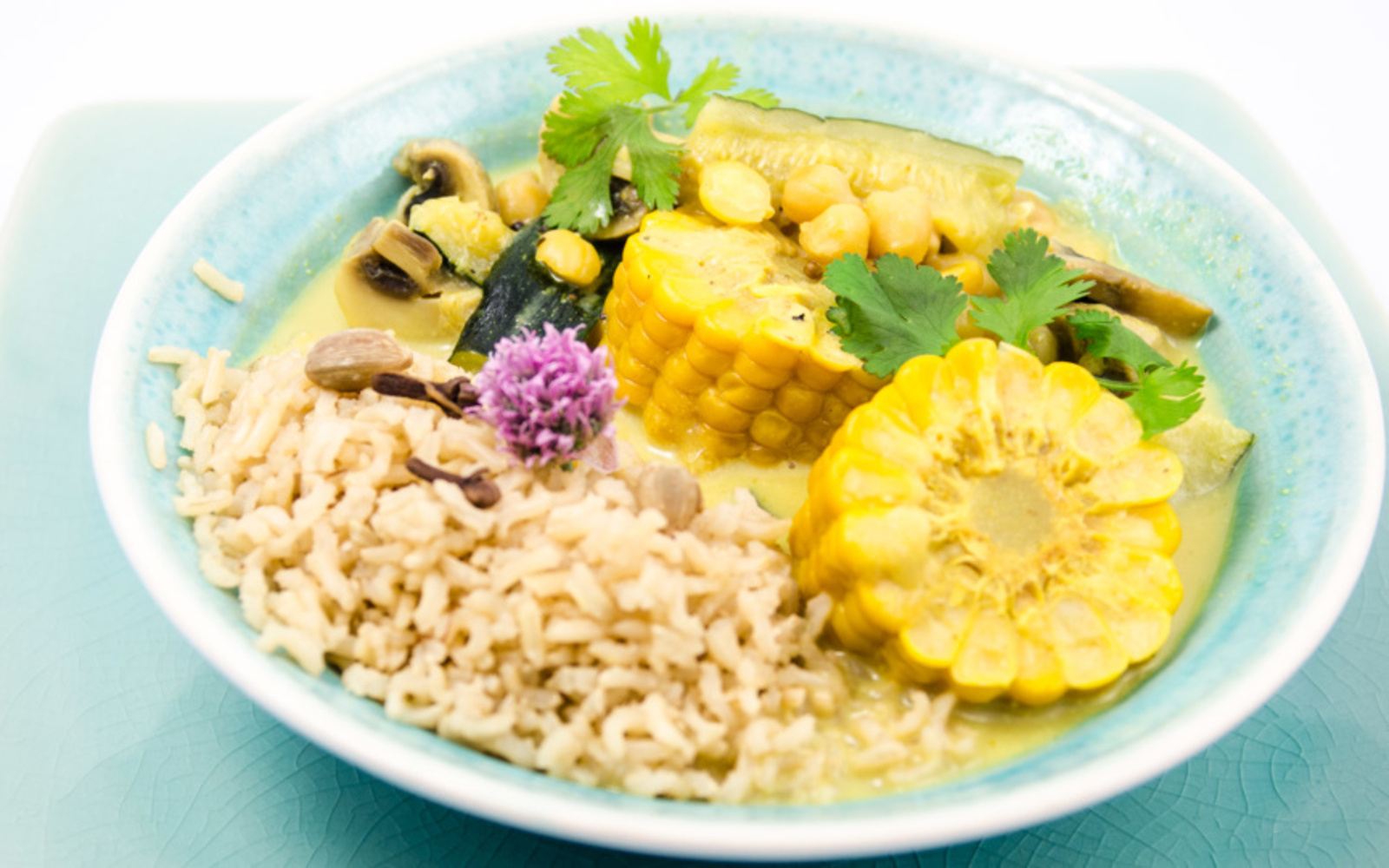 Summer Sunshine Curry With Spiced Rice