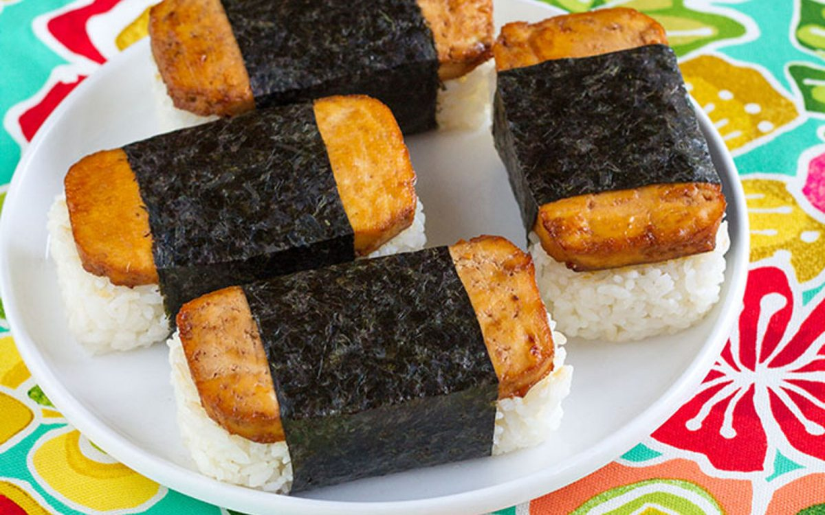Tofu Spam Musubi Hawaiian Sushi Vegan Gluten Free One Green Planet