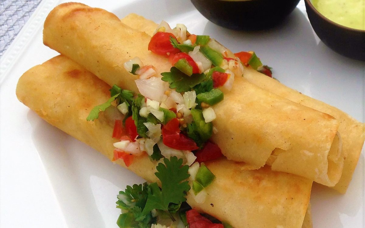 Crispy Potato Flautas With Mexican Coleslaw Vegan One Green Planet