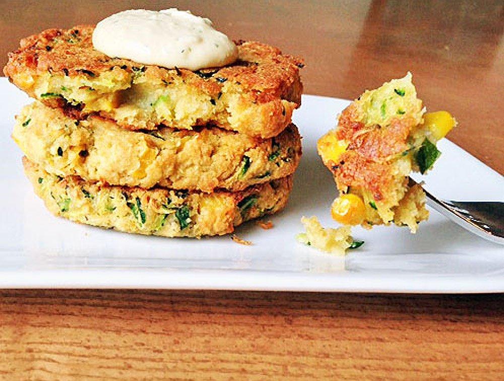 Zucchini and Corn Veggie Burgers