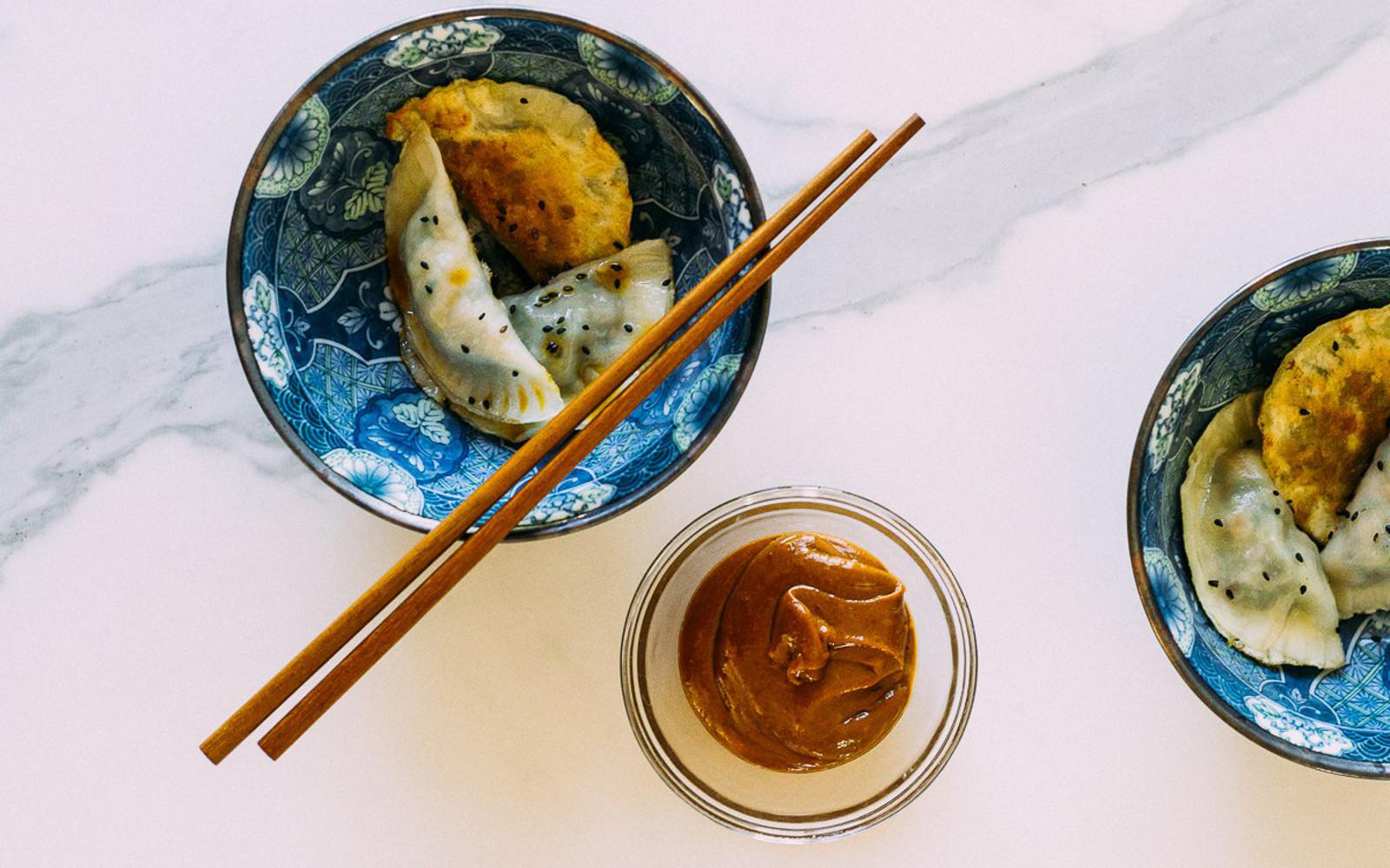 Vegan Mushroom and Vegetable Dumplings
